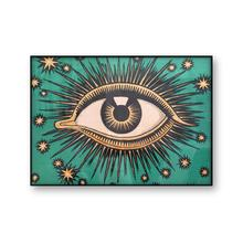 All Seeing Eye Art Canvas Print Poster Stars Wall Art Eye Providence Celestial Decor Mystical Esoteric Gnostic Canvas Painting