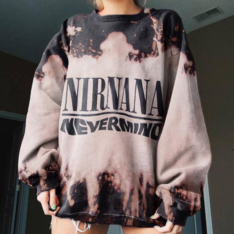 Vintage Totem Print Loose Stylish Young Girl Sweatshirt Women Tops Shirts 2020Autumn New Fashion Long Sleeve Plus Size Pullovers 9