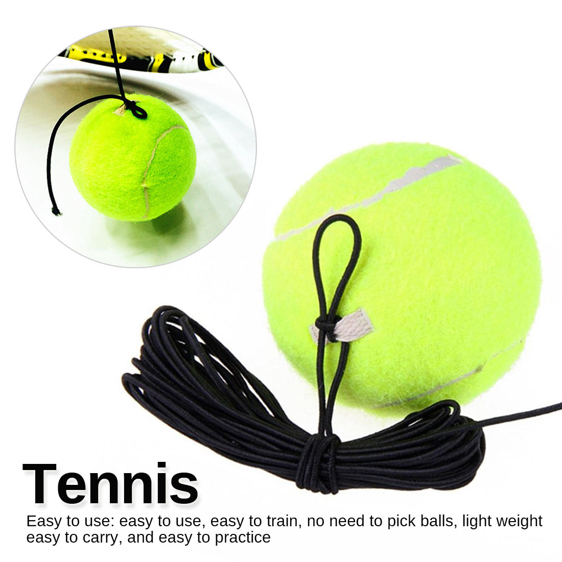 Tennis Board Exercise Ball Tennis Self-study Rebound Ball Tennis Trainer Floor Tennis Training Main Tool Exercise