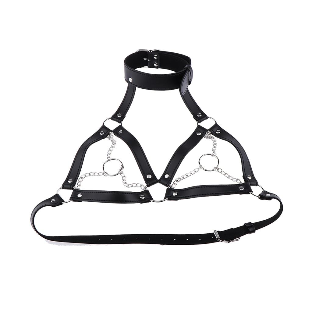 Leather Cage Bra Harness Lingerie Body Straps Belt Nightwear Costume