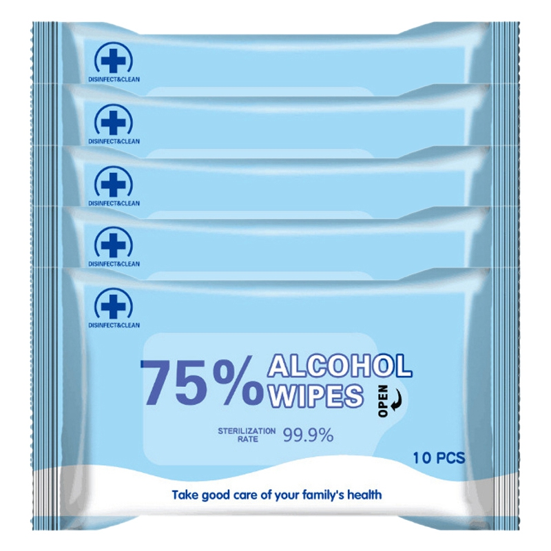 50 Sheet 75 % Alcohol Disposable Wipes Cleaning Wet Tissue Antiseptic Wet Wipes