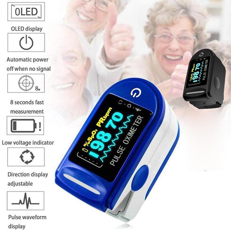 Пульсоксиметр Пальчиковый медицинский, миниатюрный прибор для измерения пульса и уровня кислорода в крови, Spo2 OLED