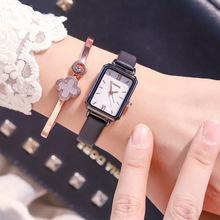 Moda damska czarne skórzane zegarki Retro prostokąt zegarek eleganckie damskie zegarki kwarcowe marka Ulzzang prosty żeński zegar tanie tanio QUARTZ Klamra CN (pochodzenie) STAINLESS STEEL Nie wodoodporne Moda casual 10mm Rectangle Odporny na wstrząsy Hardlex