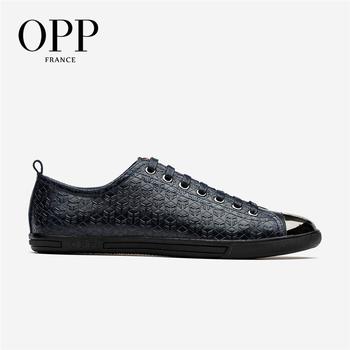OPP  Mens Shoes Loafers For Men Cow Leather Flats Shoes Casual Lace-Up Shoes Natural Cow Leather Loafers Metal