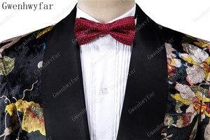 Image 4 - Gwenhwyfar Bello di Lusso Degli Uomini del Vestito di Alta Qualità Fiori Modello di Giacca + Pantaloni Nuovo Design di Grande di Vendita Degli Uomini di Vestito Da Sposa Best uomini