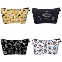 цена Hot Selling 3D Digital Printing Halloween Style Travel Cosmetic Bag Cartoon Makeup Case