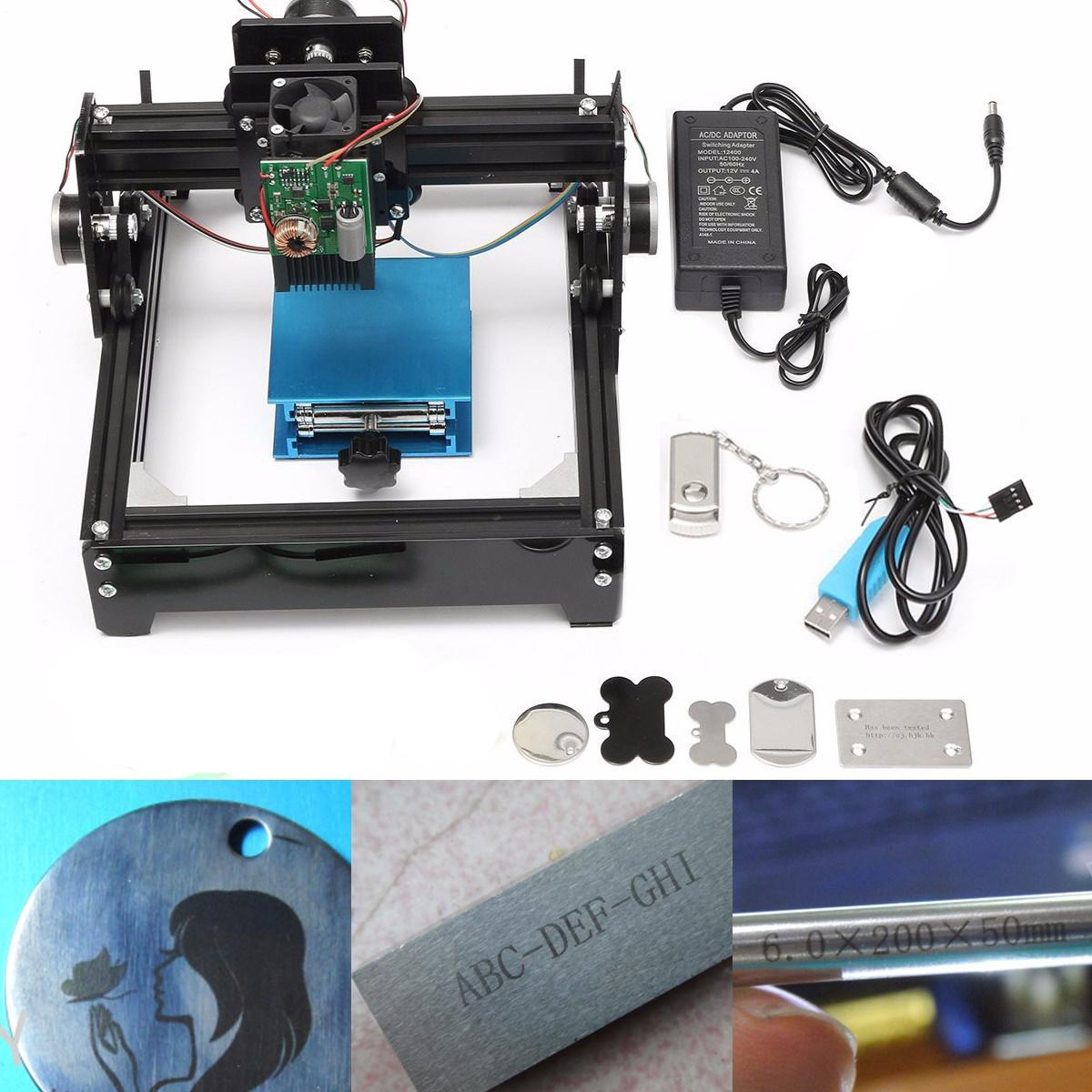 10W 15W USB Laser Cutter Metal Laser Engraver CNC Router DIY Marking Machine For Metal Stone Wood Engraving Area 14 X 20cm