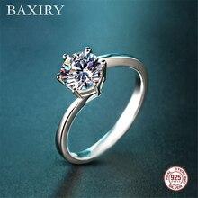 Swarovski Rings Gemstones Silver Ring Blue Sapphire Engagement Cocktaill 925 Jewelry Aquamarine For Women
