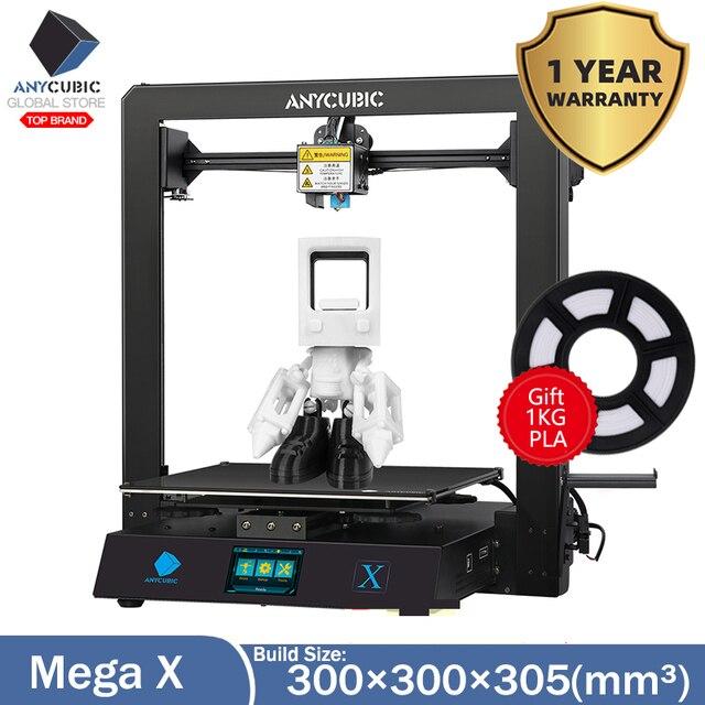 Anycubic i3 메가 X 새로운 3D 프린터 DIY 300*300*305mm 대형 인쇄 크기 imprimante 3d 그랜드 taille impressora