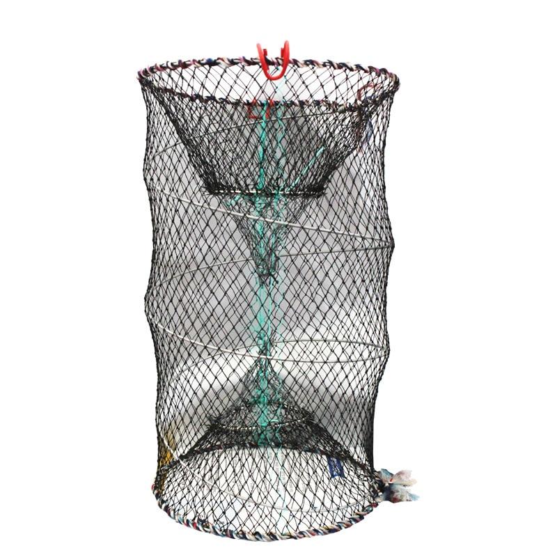 Pang Xie Long Spring Cage Fishnet Circle Folding Fishnet Shrimp Cage Fishing Net Catch Fish Cage Fishing Tool Fishing Gear