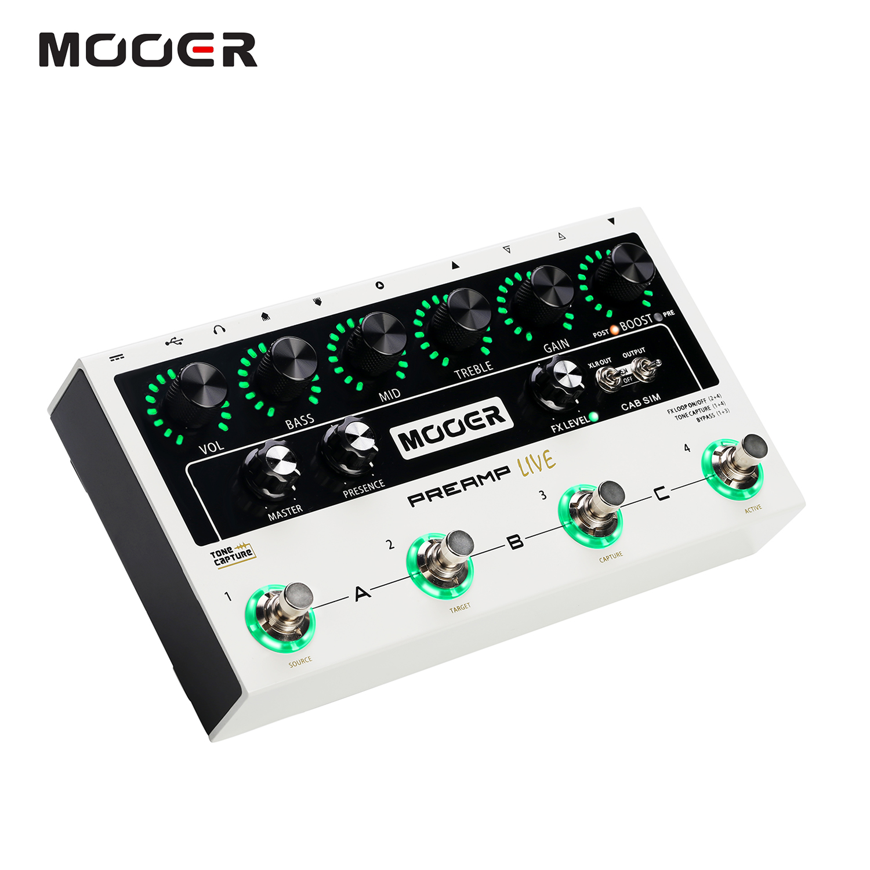 MOOER préampli direct professionnel pédale de préampli numérique préamplifier12 canaux pré & Post Booster haut-parleur armoire Simulation