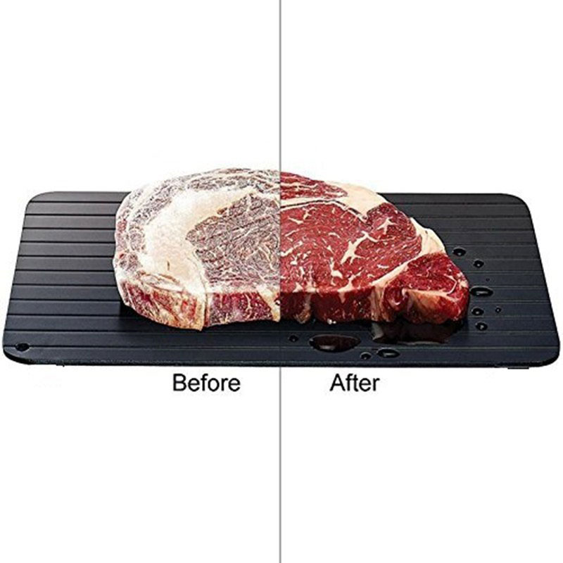 Image 3 - Defrost Express Thaw Plate Special Aluminum Tray Draws Cold Meat And Seafood In Minutes Kitchen Tools Magic Thaw MasterDefrosting Trays   -