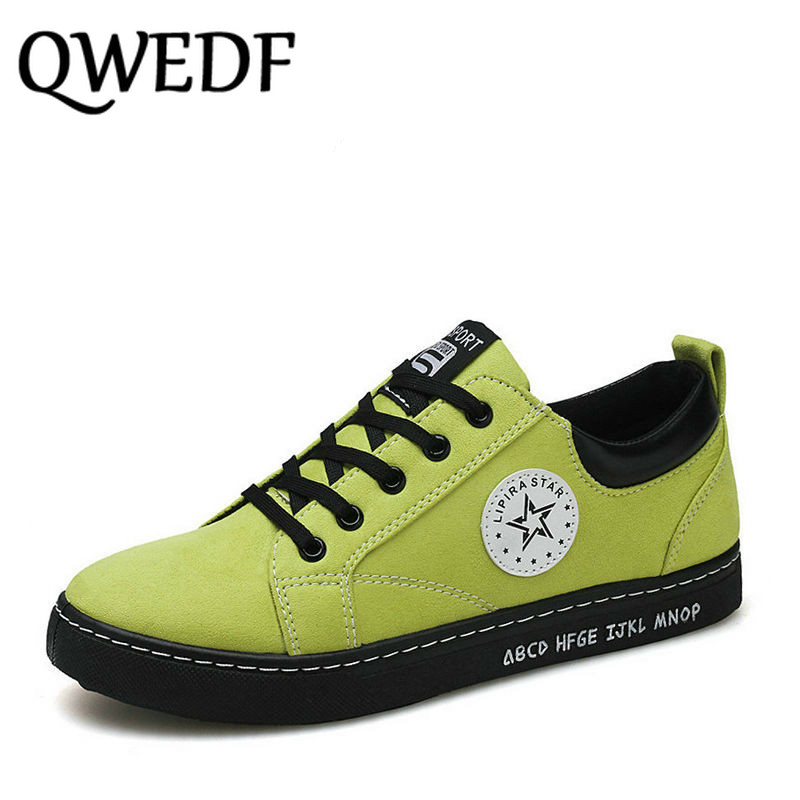 QWEDF 2019 Fashion Comfortable Casual Shoes Loafers Men Shoes Quality Split Leather Shoes Men Flats Driving Shoes XX-055