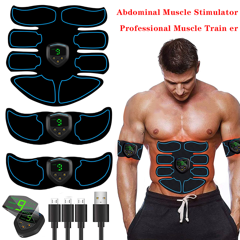 EMS Wireless Muscle Stimulator Trainer Smart Fitness Abdominal Training Electric Weight Loss Stickers Body Slimming Massager