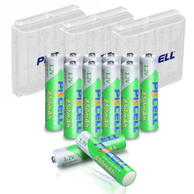 12個pkcell aaaバッテリー1.2v 850mahニッケル水素aaa充電式電池lsd 3Aアキュムレータと3本の単三/aaaバッテリー収納ホルダー