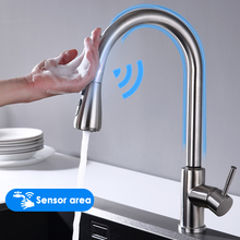 Keuken Kranen Smart Sensor Pull-Out Warm En Koud Water Switch Mengkraan Smart Touch Spray Tap Keuken Handig wastafel Kranen