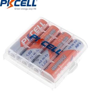 Image 4 - 8Pcs/PKCELL AA NIZN סוללה 1.6V 2500MWH AA נטענת סוללה 2A סוללות Baterias Bateria 2Pcs AA סוללה להחזיק מקרה תיבה