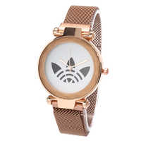 New Women Fashion Watches Luxury Brand AD Women Watch Magnet Wteel Mesh Wtrap Ladies Watch Girl Gift Reloj Mujer Hodinky