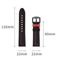 New Genuine Leder Uhr Band 20mm 22mm Für Samsung Galaxy Uhr 46mm Strap Für Huawei Uhr GT zubehör Uhrenarmbänder Armband