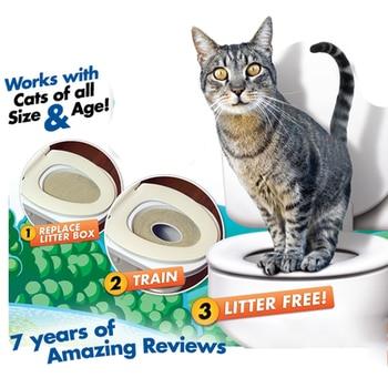 Cat Training Toilet Seat Cat Toilet Training Kit Kitteen Litter Free Trainer Cat Sand Tray Mat Toilet Pet Trainer Toilet Device