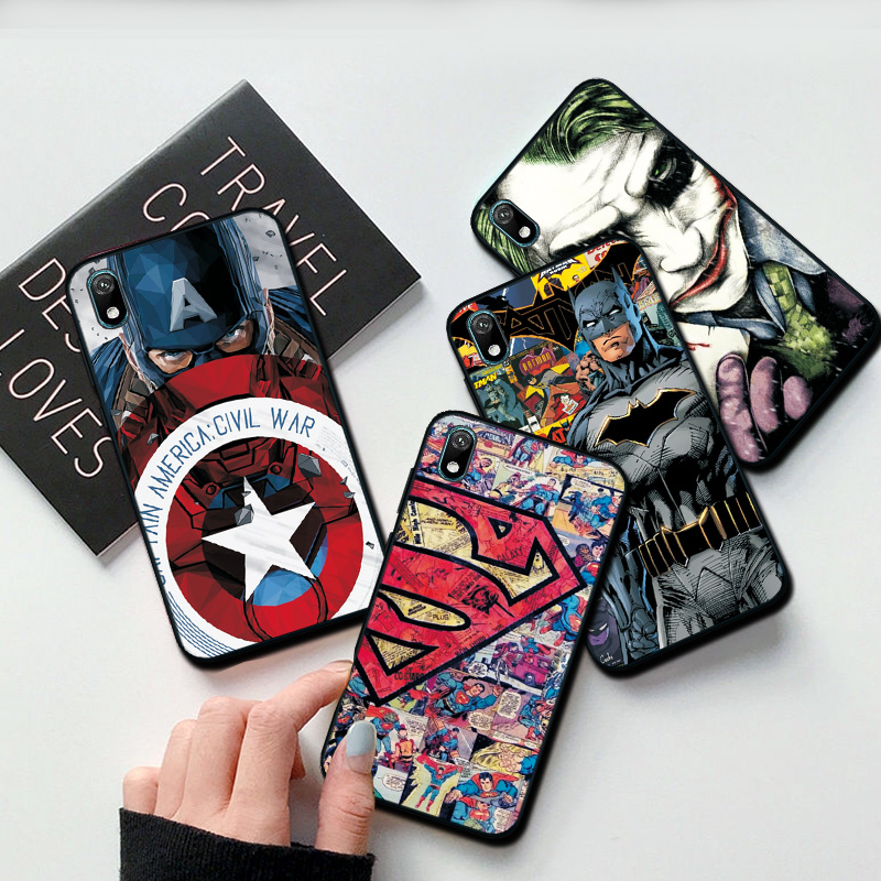 Shell case For Huawei Y5 Y6 Y7 Y9 2019 Y5 Lite Prime 2018 Honor 8S 8A with Clown and Spiderman graphics 5