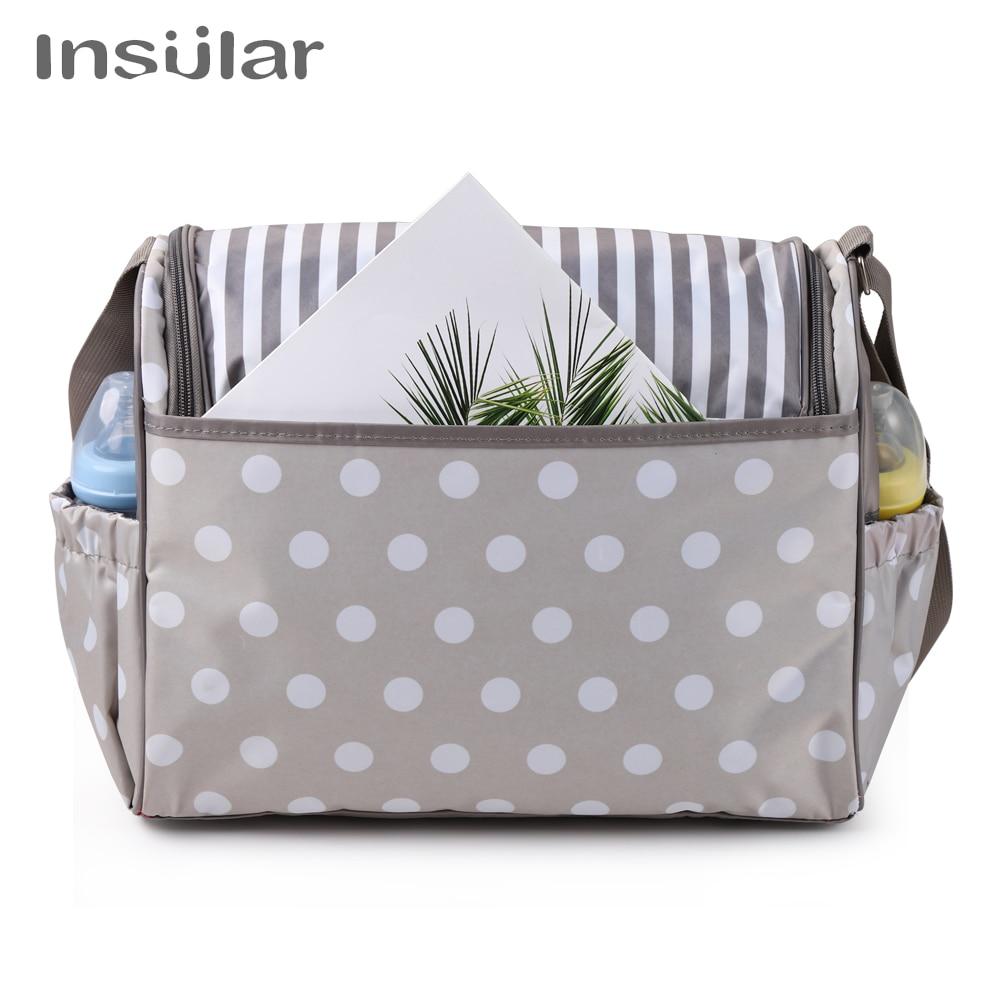 Insular Diaper Baby Mummy Maternity Nappy Bag Brand Travel Message Bag Dot Nursing Bag For Baby Care Stroller Baby Diaper Bags