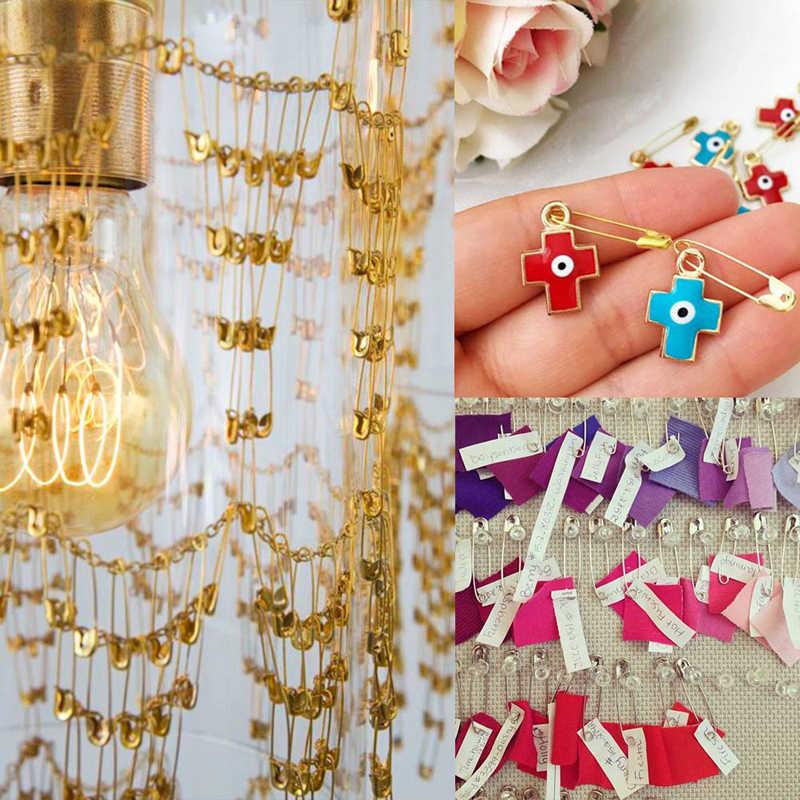 MIUSIE-aiguilles en acier inoxydable | Épingles de sûreté, bricolage, outils de couture, grande épingle de sécurité, petite broche accessoires pour vêtements, 500 pièces