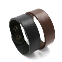 New Fashion Men Leather Bracelet Brown Wide Cuff Bracelets & Bangles Wristband Vintage Punk Jewelry