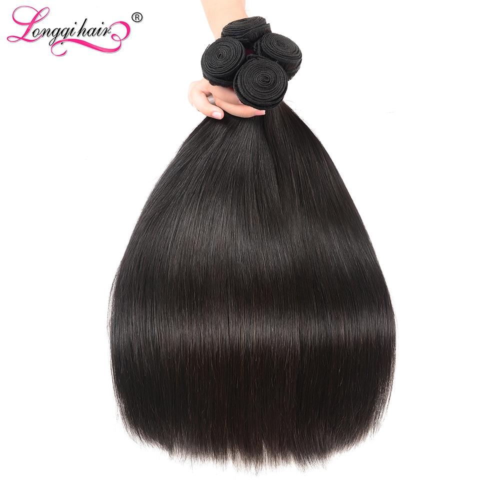 Fasci di capelli lisci peruviani 8 - 30 pollici capelli umani 3 4 fasci fasci di tessuto per capelli umani Remy trama di capelli umani neri naturali