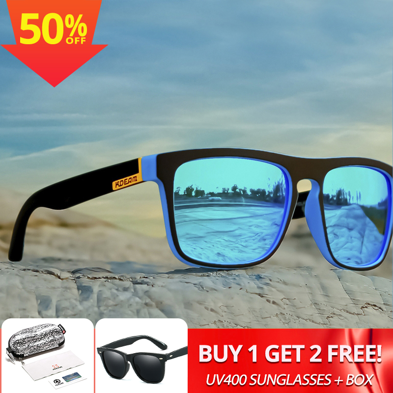 KDEAM Original Design Polarized Sunglasses For Men And Women UV-Block Night Driving Glasses Photochromic Night Vision Lens XH119