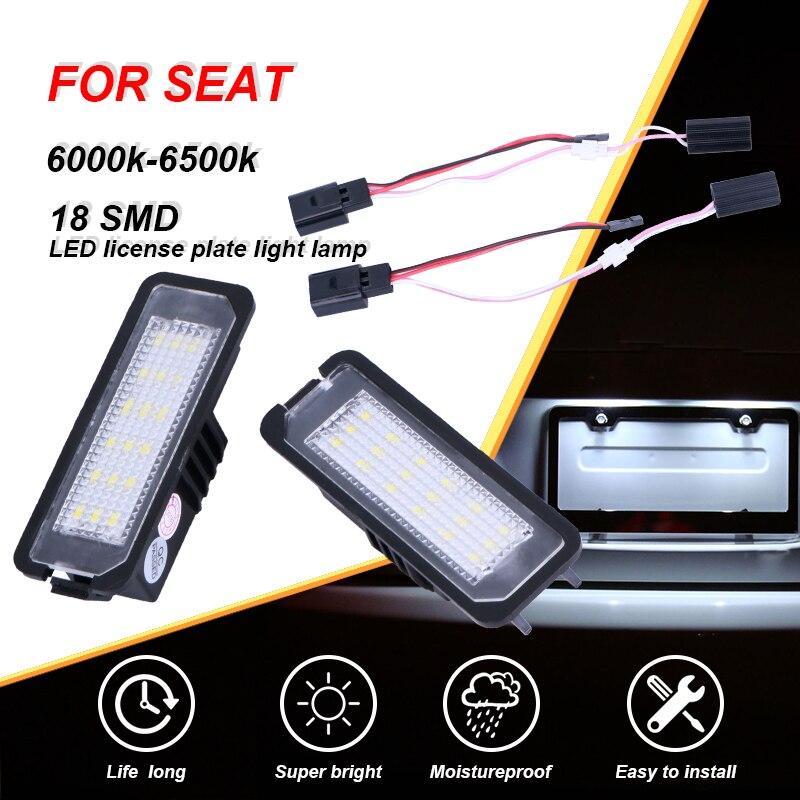 CARLitek, luces para matrícula 18SMD, luces LED para matrícula para SEAT para Altea XL/Freetrack, modelo para Exeo/ST para Ibiza para León