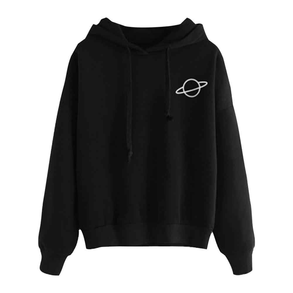 Women Hoodies Casual Loose Drawstring Sweatshirt Long Sleeve Hooded Autumn Female Pullover sweat capuche sudadera mujer J26