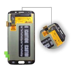 Image 5 - AMOLED תצוגה עבור SAMSUNG Galaxy S6 קצה LCD תצוגת G925 G925I G925F מגע מסך Digitizer טלפון חלקי מקורי OLED תצוגה