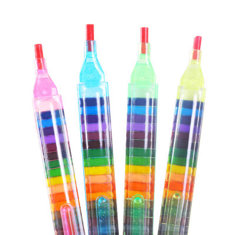 20 สี/1PC น่ารัก Kawaii ดินสอสีน้ำมันพาสเทลสีสร้างสรรค์ Graffiti ปากกาสำหรับเด็กวาดภาพวาดอุปกรณ์นักเรียนเครื่องเขียน