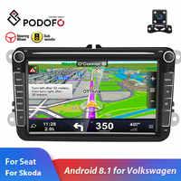 """Podofo 2din autoradio Android 8.1 Per VW/Volkswagen/Golf/Polo/Passat/b7/b6 /SEAT/leon/Skoda 8 """"pollici 2 DIN GPS Wifi SD auto stereo"""