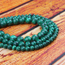 Green Malachite Natural Stone Bead Round Loose Spaced Beads 15 Inch Strand 4/6/8/10/12mm For Jewelry Making DIY Bracelet