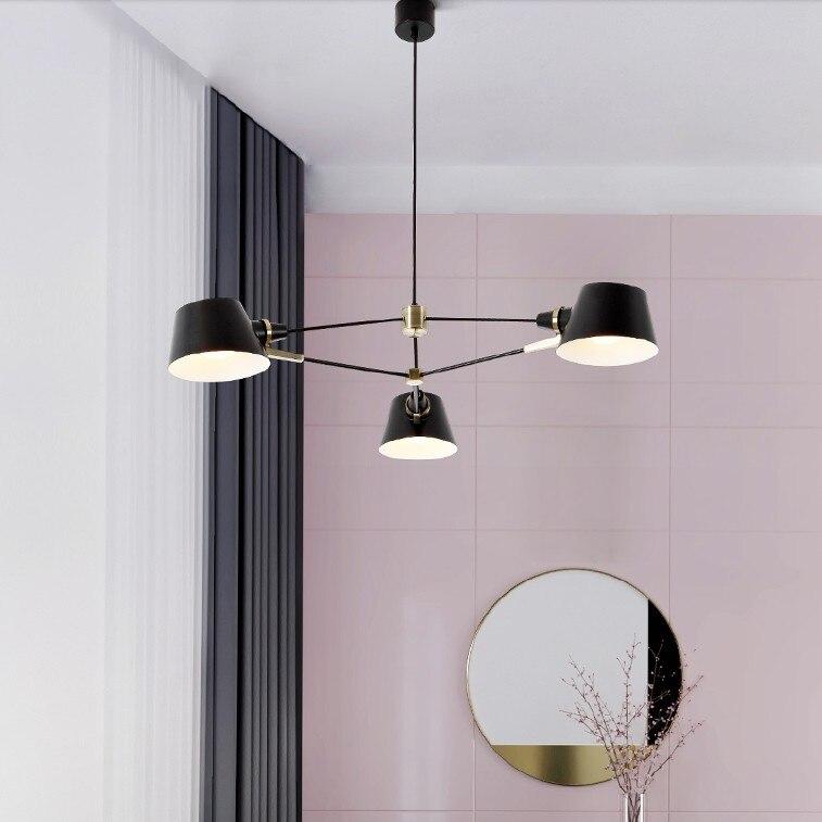 Image 3 - Nordic Chandelier Lighting/Lamp  Modern Living Room Hanging Light Fixture  Black Suspension Lamps For Dinning Room Bedroom-in Chandeliers from Lights & Lighting