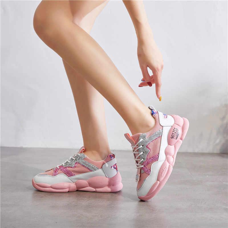 שרירים תחתון גאות נעלי נשים של Wild אופנה נעליים קל משקל רך ללבוש עמיד נעליים יומיומיות נשים של לגפר נעלי