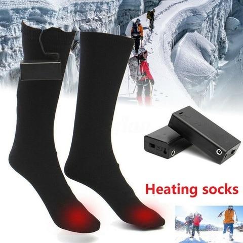Elétricas para Caminhadas Masculino Feminino Bateria Operado v Térmica Algodão Aquecido Meias Inverno pé Mais Quente Pesca no Gelo 3 Mod. 380463