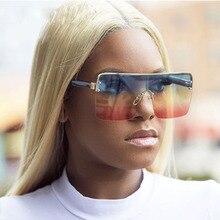 Fashion Big Square Women Sunglasses Female Over sized Shield