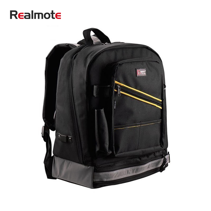 Realmote Multifunction Waterproof Backpack Tool Work Storage Bag Electrician Carpenter Instrument Cases With Handbag Toolkit
