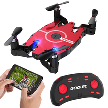 GoolRC T49 Mini RC Drone with 720P Camera 6-Axis Gyro WIFI FPV Selfie Foldable Pocket Dron RTF Toy Quadcopter Helicopter