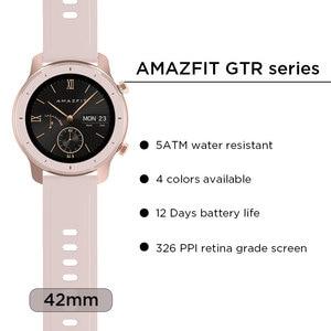 Image 2 - Global Version Amazfit GTR Smart Watch 42mm 5ATM Waterproof 24 Days Battery GPS Smart Women Watch Android Watch