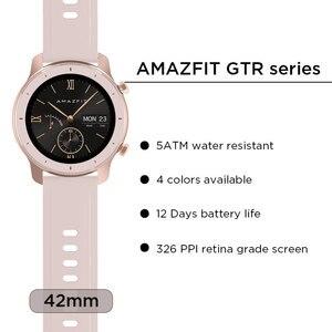 Image 2 - Version mondiale Amazfit GTR montre intelligente 42mm 5ATM étanche 24 jours batterie GPS femmes intelligentes montre Android montre