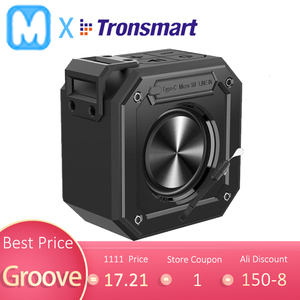 Tronsmart Groove Bluetooth Speaker Column Mini SoundBox Portable Speakers IPX7 Waterproof for Computer With 24-Hour Playtime(China)