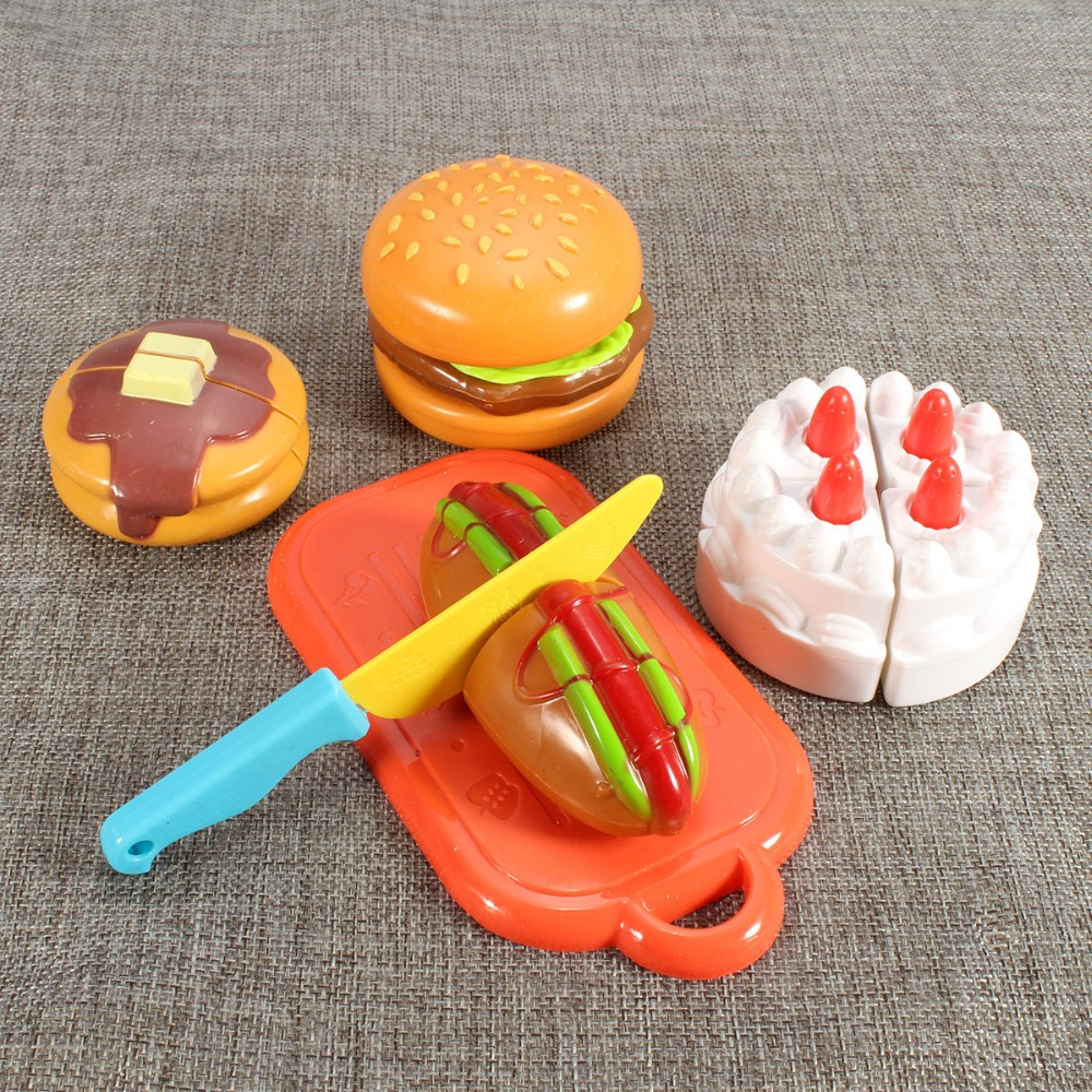 Toy Cake Slicing Food Birthday Party Toys Baby Kitchen Pretend Play House Artificial Classic Toy for Children Kids