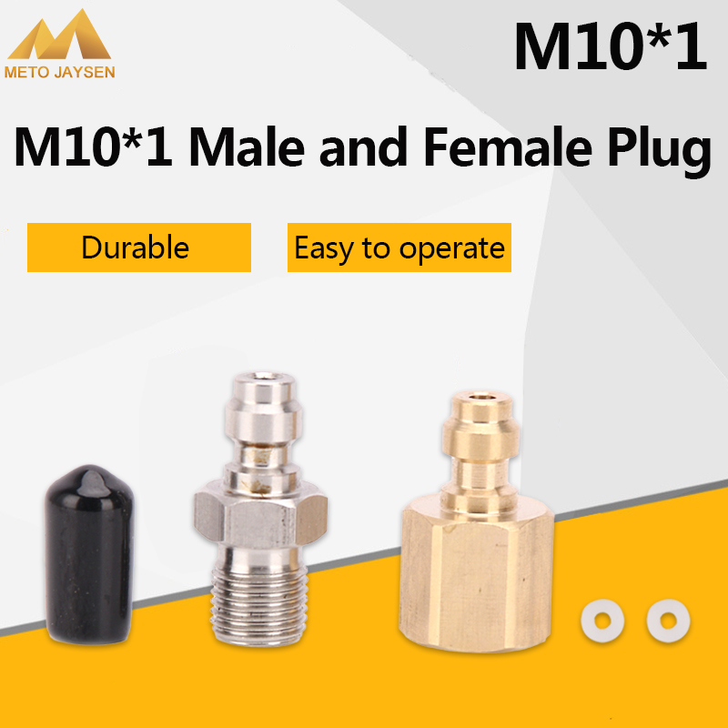PCP Airforce Paintball 8mm Fill Nipple M10x1 Quick Female Plug Male Plug Coupler Fittings Air Socket 2pcs/set