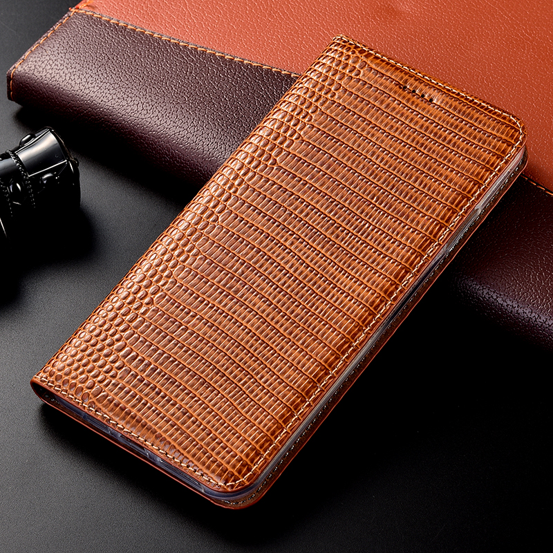 Lizard pattern Genuine Leather Case <font><b>Meizu</b></font> M3 M5 M6 M6T 15 <font><b>16</b></font> 16T 16S 16XS 16TH X8 V8 Note 8 9 <font><b>Pro</b></font> 7 Plus Lite Flip Phone Cover image