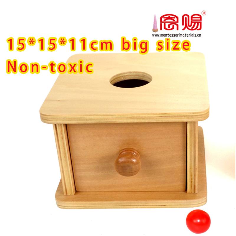 Imbucare Box with Ball NEW Montessori Infant Toddler Material