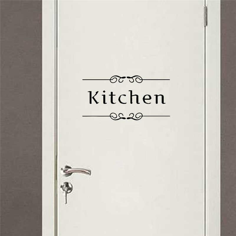 Kitchen Bathroom Bedroom Playroom Office Toilet  Sign Door Vinyl Stickers Decal